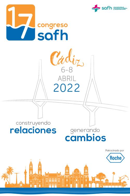 17 Congreso SAFH 10 al 13 Marzo 2021. Parador de Cádiz